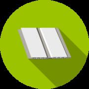 Потолочные панели ПВХ (под реечный потолок)