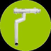 Белая водосточная система ПВХ