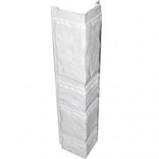Угловая рейка для цокольной панели белая (L - 0,45 м.)