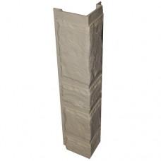 Угловая рейка для цокольной панели кремовая (L - 0,45 м.)