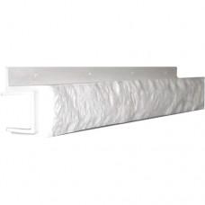 Переходная рейка для цокольной панели белая (L - 0,45 м.)