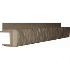 Переходная рейка для цокольной панели кремовая (L - 0,45 м.)