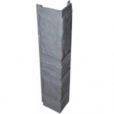 Угловая рейка  для цокольной панели серая (L - 0,45 м.)