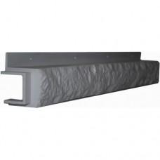 Переходная рейка для цокольной панели серая (L - 0,45 м.)