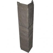 Угловая рейка для цокольной панели глина (L - 0,45 м.)