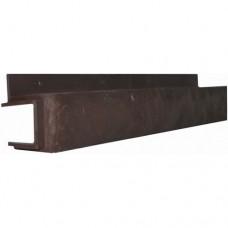 Переходная рейка для цокольной панели коричневая (L - 0,45 м.)