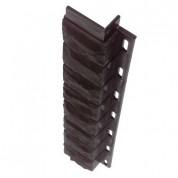 Внутренний угол для цокольной панели коричневый (L - 0,45 м.)