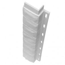 Внутренний угол для цокольной панели белый (L - 0,45 м.)