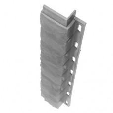 Внутренний угол для цокольной панели серый (L - 0,45 м.)