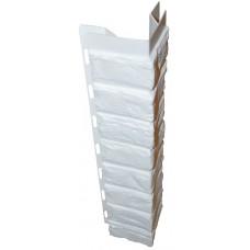 Наружный угол для цокольной панели белый (L - 0,45 м.)