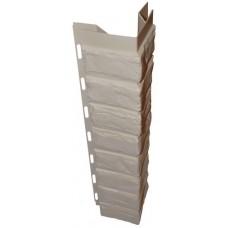 Наружный угол для цокольной панели кремовый (L - 0,45 м.)