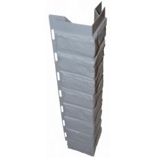 Наружный угол  для цокольной панели серый (L - 0,45 м.)