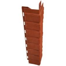 Наружный угол для цокольной панели кирпич (L - 0,45 м.)