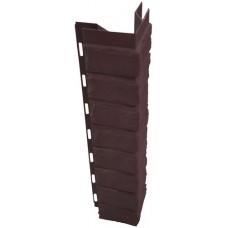 Наружный угол для цокольной панели коричневый (L - 0,45 м.)