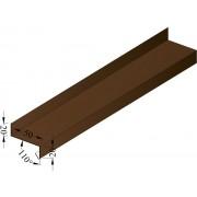 Отлив коричневый 50 мм; L - 2 м. (RAL)