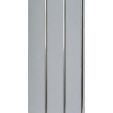 Панель белая трехсекционная, полоса хром