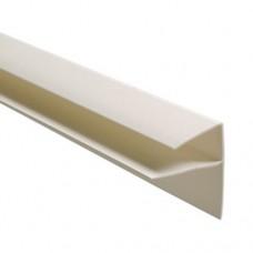 F-профиль (широкий) для панелей ПВХ 8мм.; белый