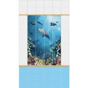 """Панель ПВХ UNIQUE """"Подводный мир"""" (панно; цена за 4 панели)"""