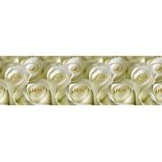 """Кухонный фартук """"Белые розы"""" на основе ПВХ"""