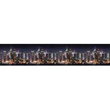 """Интерьерная панель """"Город Манхэттен"""" из ПВХ пластика; L-3 м."""