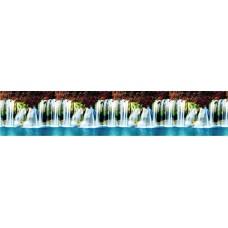 """Интерьерная панель """"Водопад"""" из ПВХ пластика;"""